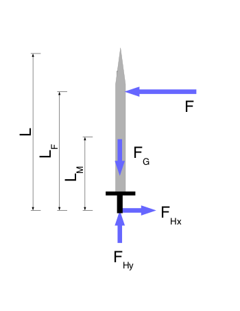 Free Body Diagram of the Sword